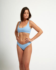 Biarritz Bottom Blue Rib - Eurvin Swimwear & Clothing - Australia Made