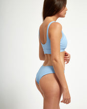 Load image into Gallery viewer, Balangan Top Blue Rib - Eurvin Swimwear & Clothing - Australia Made