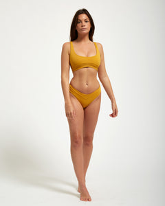 Balangan Top Moutarde - Eurvin Swimwear & Clothing - Australia Made