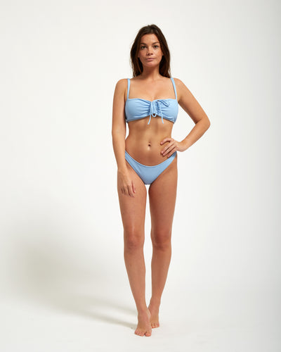 Amalfi Top Blue Rib - Eurvin Swimwear & Clothing - Australia Made
