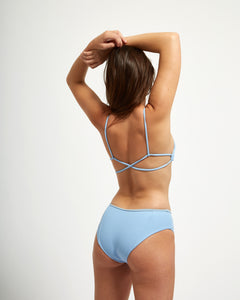 Corsica Bottom Blue Rib - Eurvin Swimwear & Clothing - Australia Made