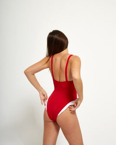 Henriette One Piece Rouge - Eurvin Swimwear & Clothing - Australia Made