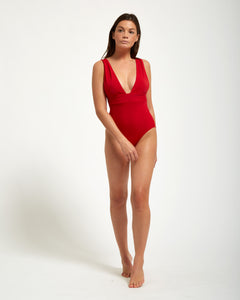 Pantai One Piece Rouge - Eurvin Swimwear & Clothing - Australia Made