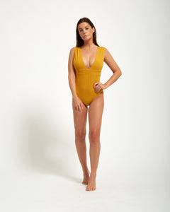 Pantai One Piece Moutarde - Eurvin Swimwear & Clothing - Australia Made