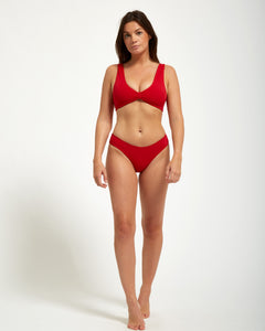 Tulum Bottom Rouge - Eurvin Swimwear & Clothing - Australia Made