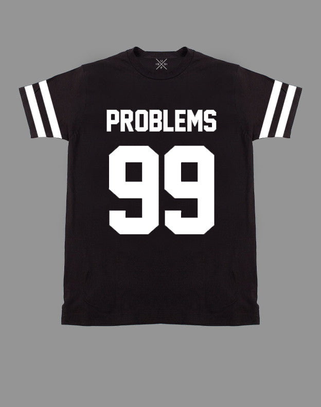 99 Problems Black Fitted T-Shirt