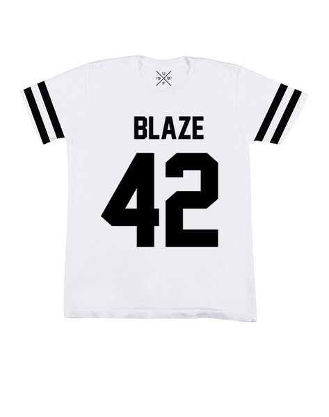 Blaze 42 White Fitted T-Shirt