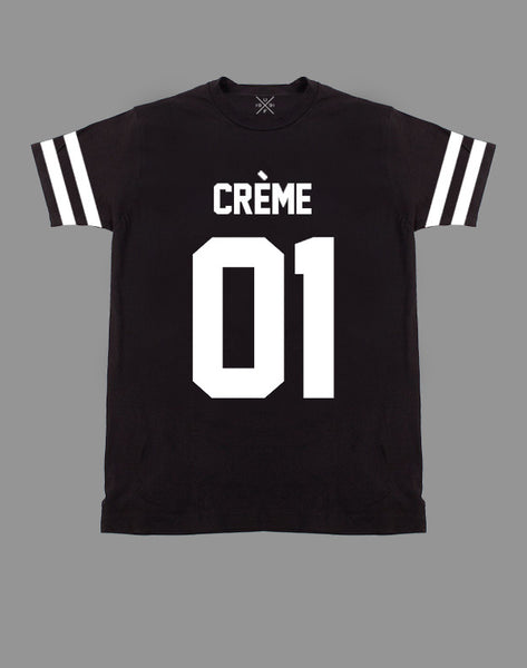 Creme 01 Black Fitted T-Shirt