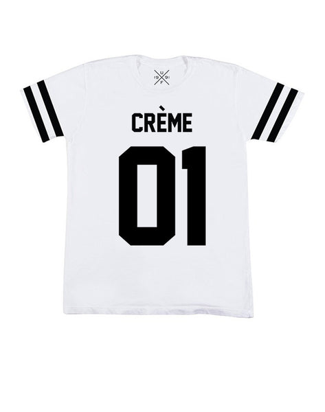 Creme 01 White Fitted T-Shirt