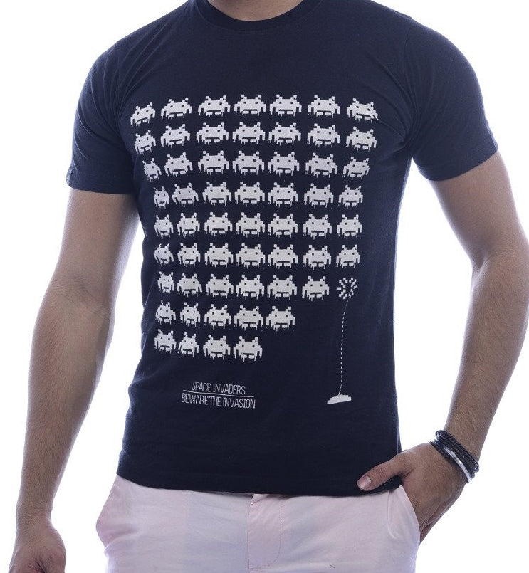 Space Invaders Black Fitted T-Shirt