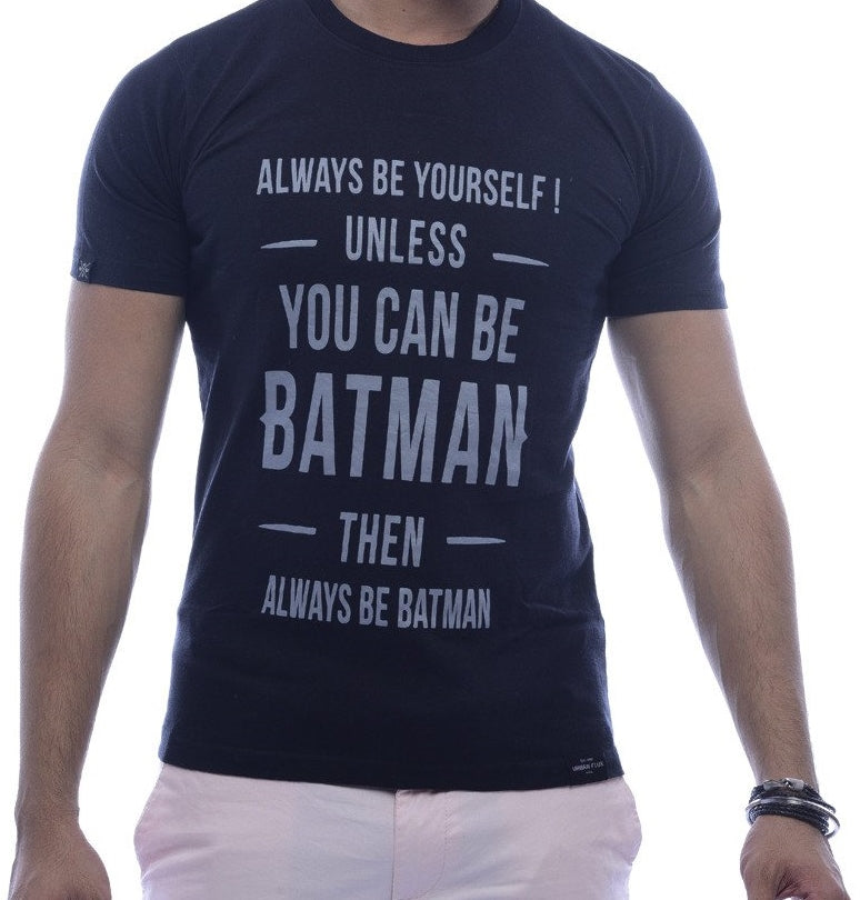 """If you can be Batman"" Black Fitted T-Shirt"