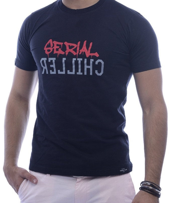 Serial Chiller Black Fitted T-Shirt