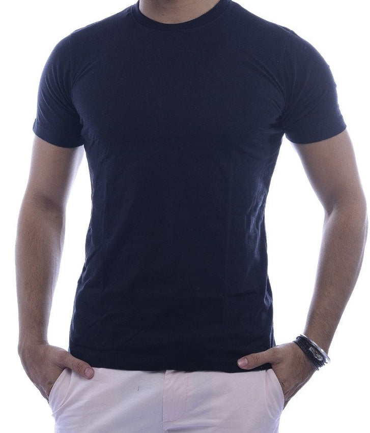 Plain Black Fitted T-Shirt
