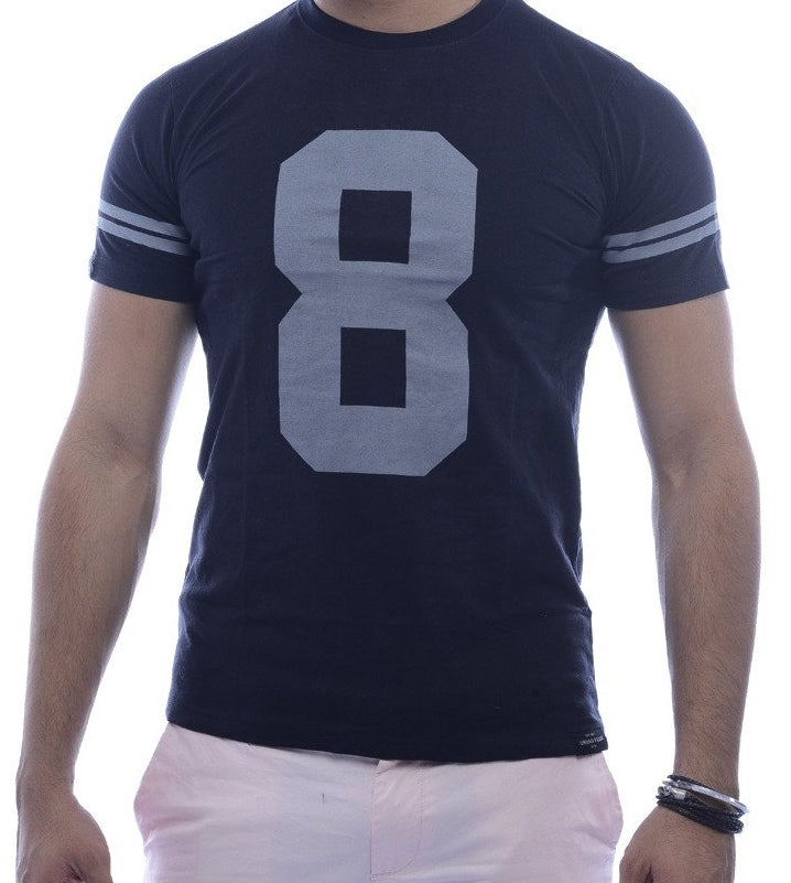 """8"" Black Fitted T-Shirt"