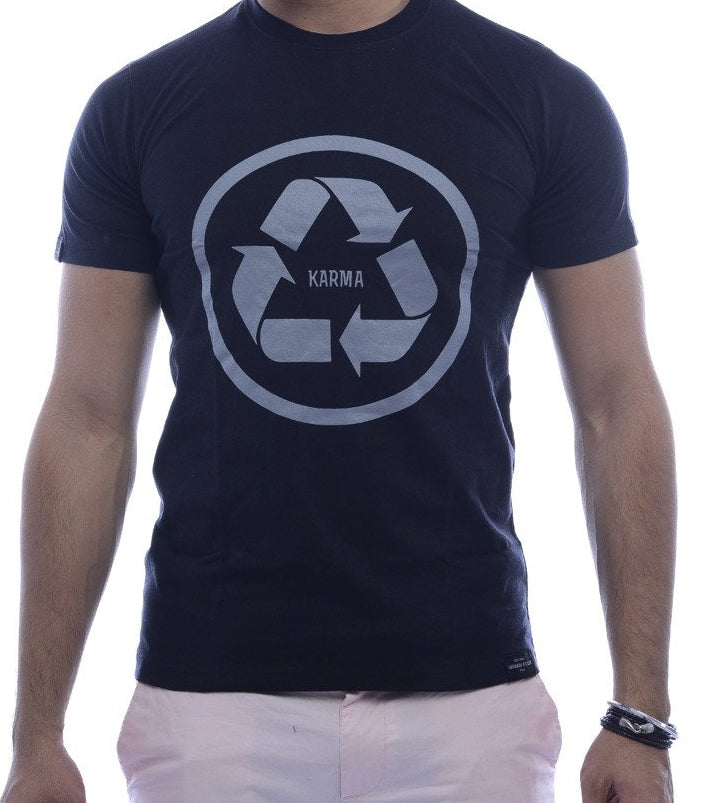 Recycle Karma Black Fitted T-Shirt