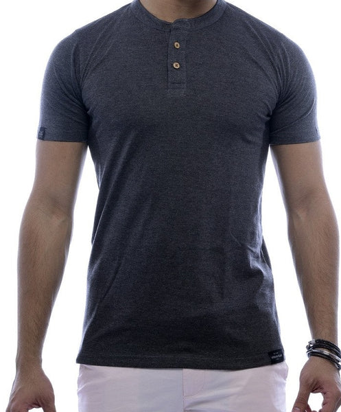 Grey 2 button Henley