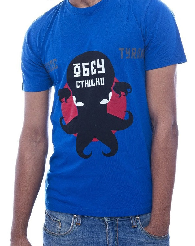 Obey Chthulu Royal Blue Fitted T-Shirt