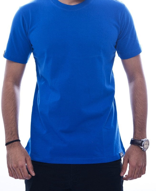 Plain Royal Blue Fitted T-Shirt