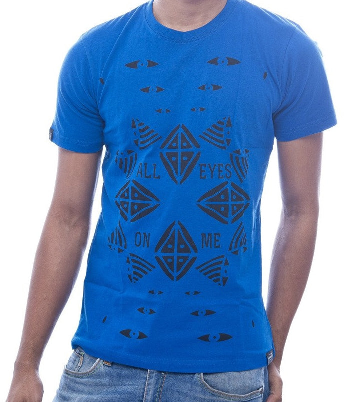 """All Eyes on Me"" Royal Blue Fitted T-Shirt"