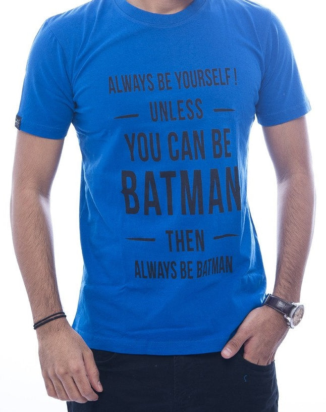 """If you can be Batman"" Royal Blue Fitted T-Shirt"