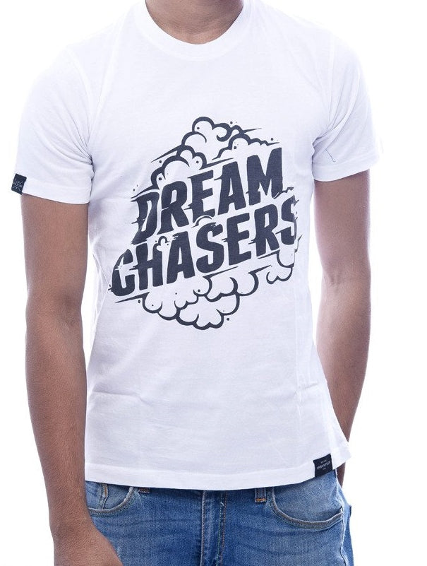 Dream Chasers White Fitted T-Shirt