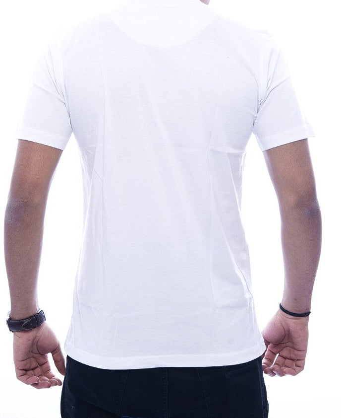 """All Eyes on Me"" White Fitted T-Shirt"