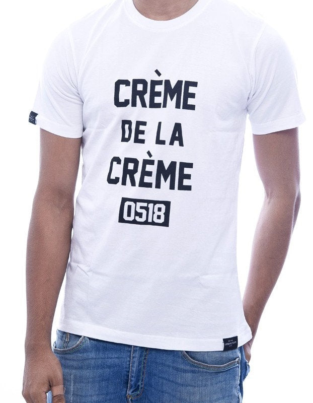 Crème de la Crème White Fitted T-Shirt