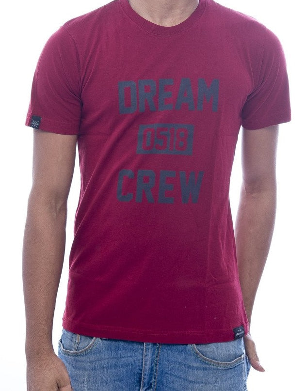 Dream Crew Maroon Fitted T-Shirt