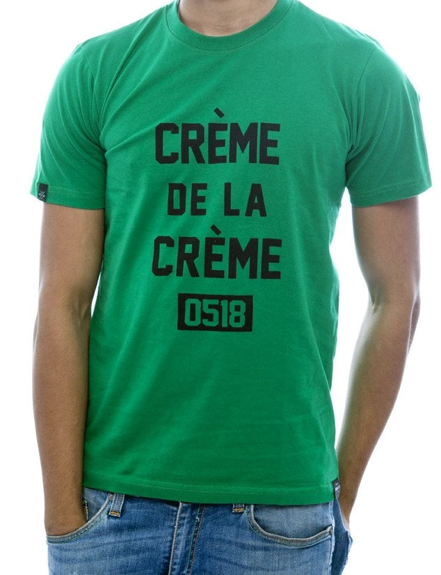 Crème de la Crème Green Fitted T-Shirt