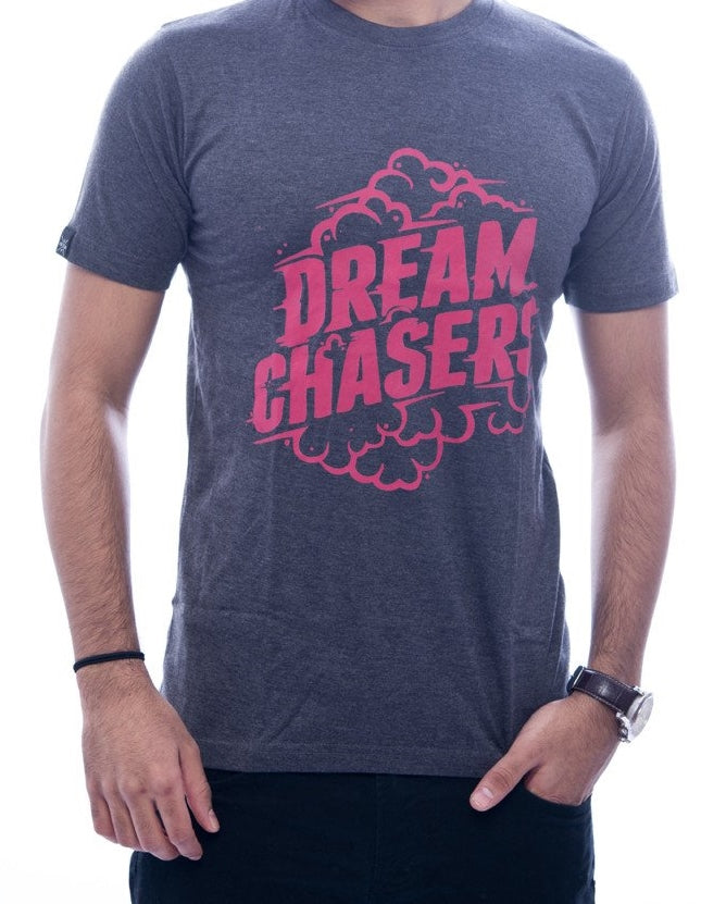 Dream Chasers Charcoal Grey Fitted T-Shirt