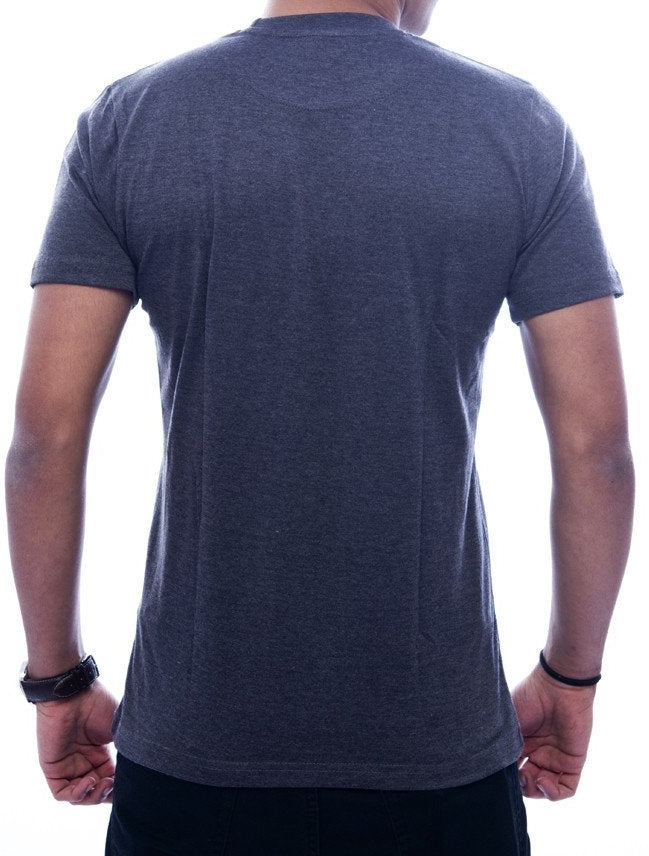 Kanji + Bee Charcoal Grey Fitted T-Shirt