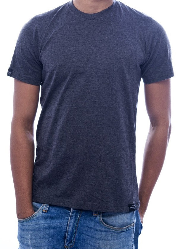 Plain Charcoal Grey Fitted T-Shirt