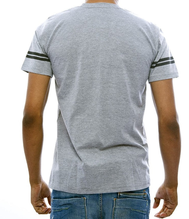 """8"" Light Grey Fitted T-Shirt"