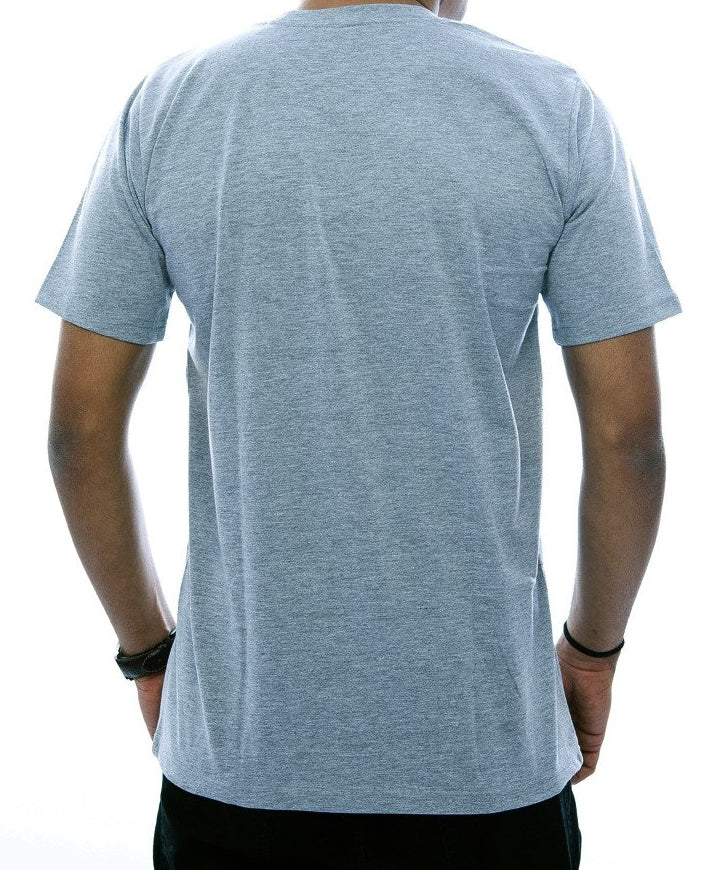 Digitally Abstract Light Grey Fitted T-Shirt