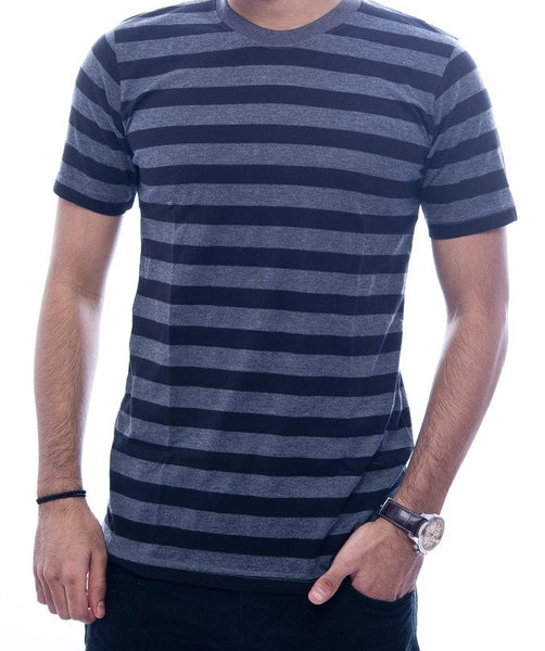 Black & Grey Striped T-Shirt