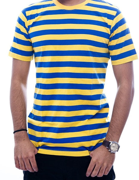 Blue & Yellow Striped T-Shirt