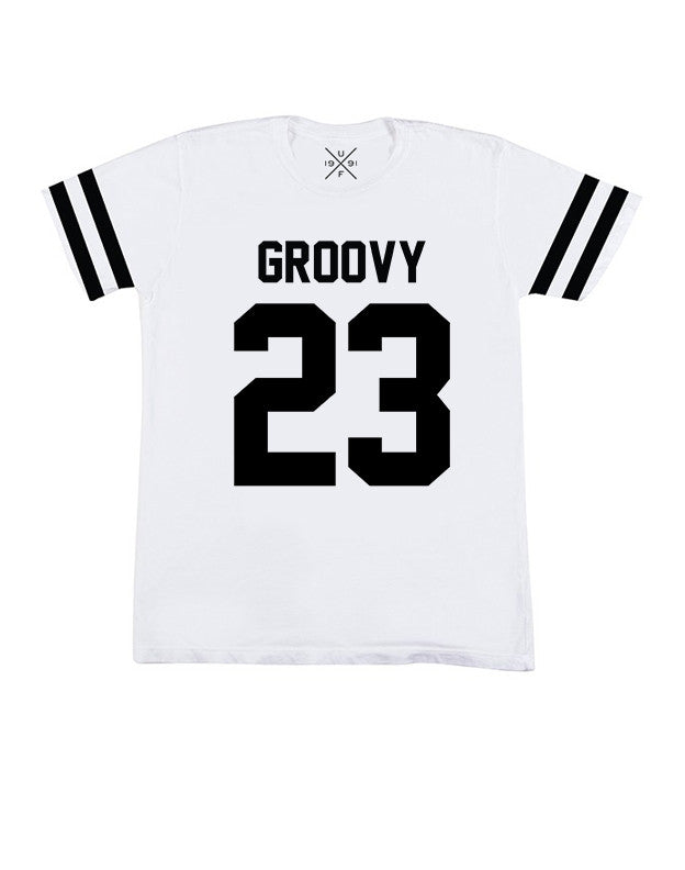 Groovy 23 White Fitted T-Shirt