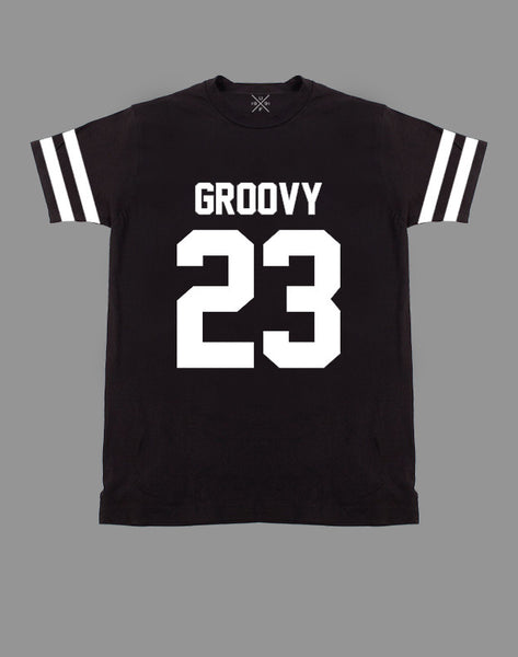 Groovy 23 Black Fitted T-Shirt