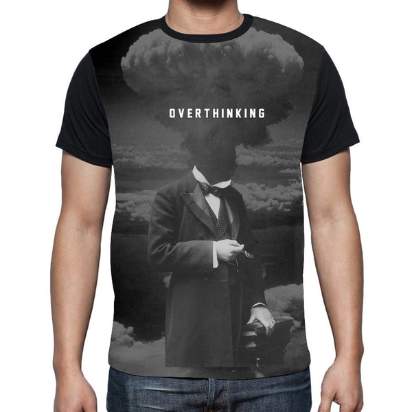 Overthinking Black Fitted T-Shirt