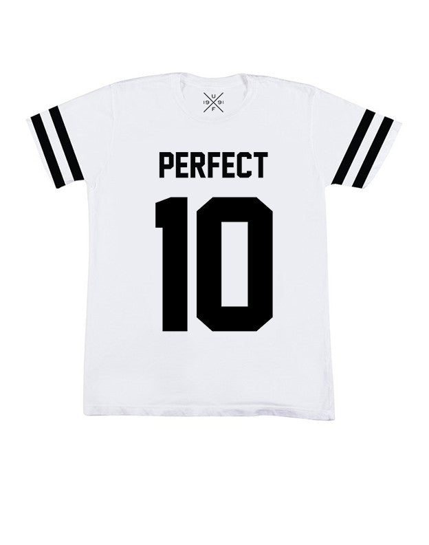 Perfect 10 White Fitted T-Shirt