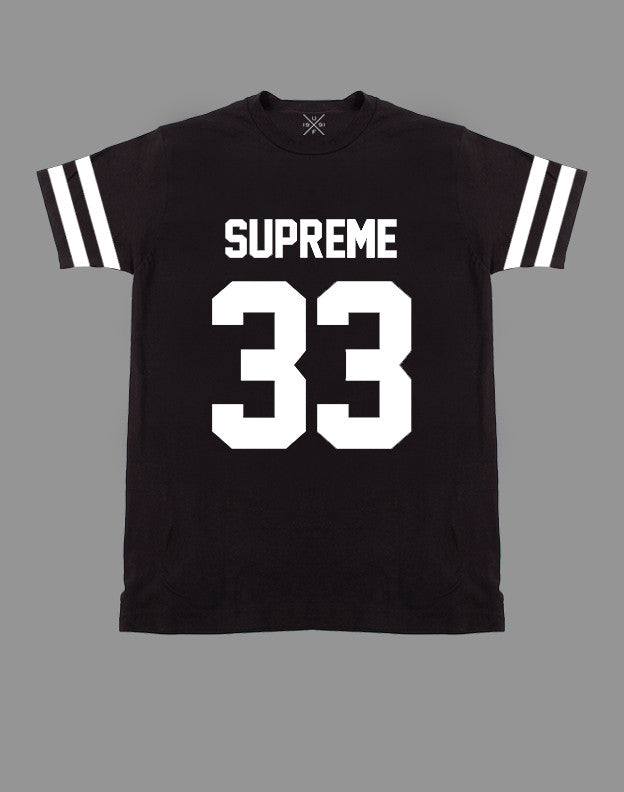 Supreme 33 Black Fitted T-Shirt