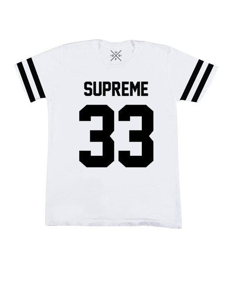 Supreme 33 White Fitted T-Shirt