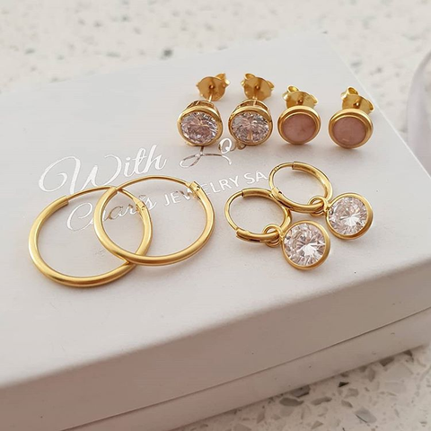 Gold & Rose Gold Earrings