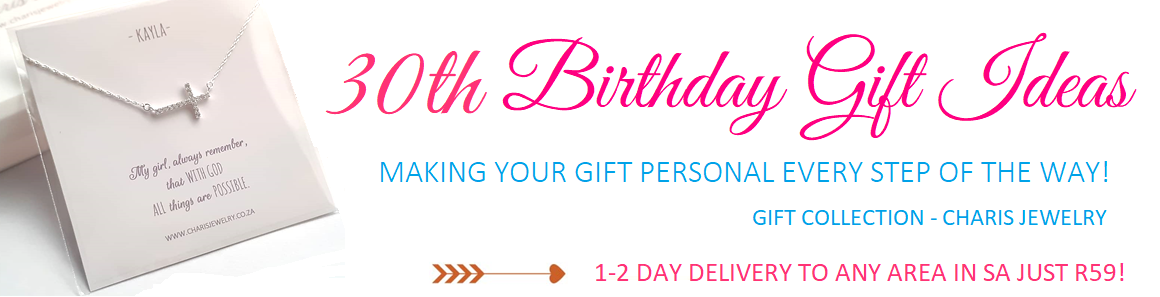 30th Birthday Jewelry and Gifts Online Jewelry Store in South Africa