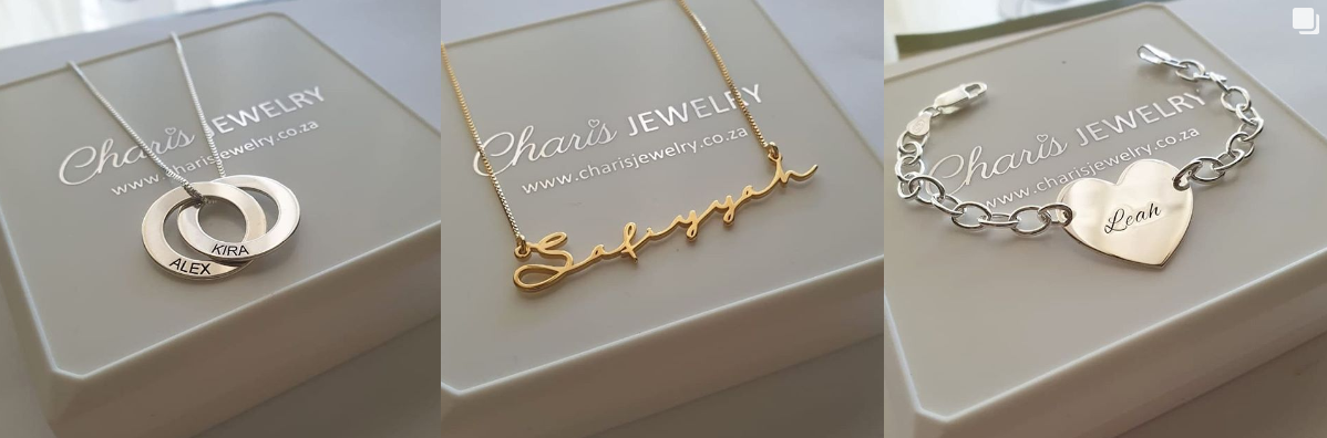 Charis Jewelry SA Personalized Jewelry online store in South Africa