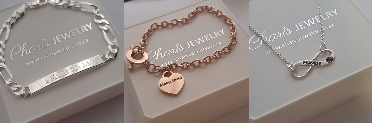 Personalized necklaces and bracelets jewellery online store in South Africa