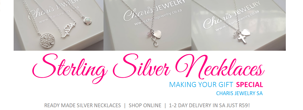 Sterling silver necklaces online jewellery store in South Africa