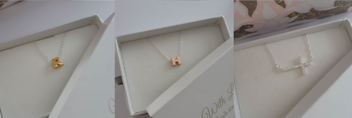 Initial Letter Necklaces and Cross Necklaces online at Charis Jewelry SA