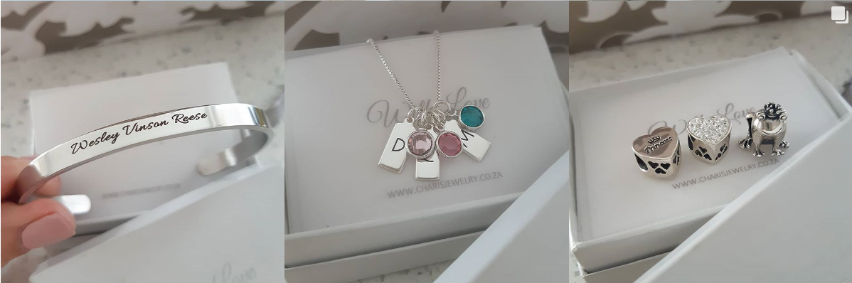 Personalized Necklaces, Bracelets and Gift Charm Beads online at Charis Jewelry SA