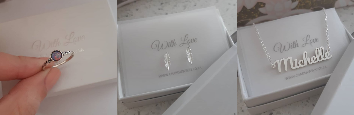 Jewelry and personalized jewelry from Charis Jewelry SA Online Jewelry Store